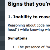 Signs that you're a bad programmer