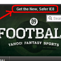 "Yahoo Recommends Firefox Users To Switch To The ""New, Safer IE8″"