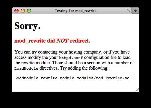 Bad, mod_rewrite didn't work
