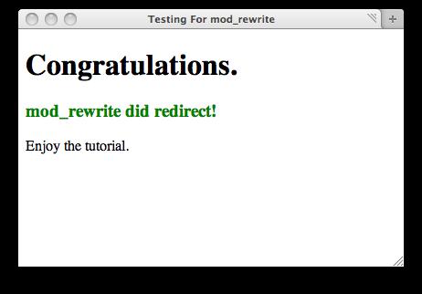 Good, mod_rewrite worked