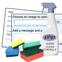 Link toGetting clean with php