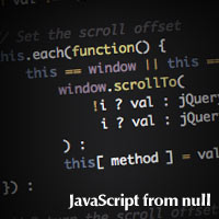 Javascript from null