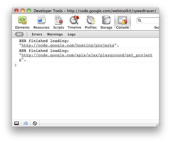 A screenshot of the Console Panel within the Chrome Developer Tools