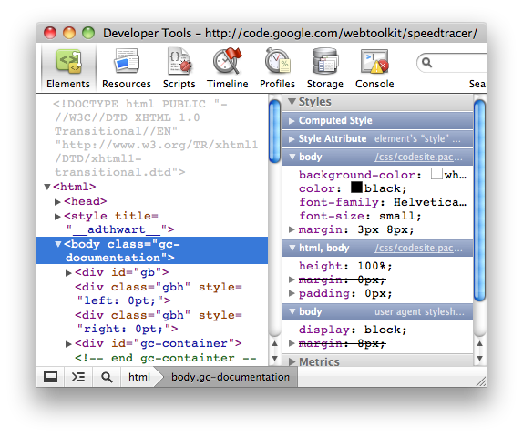 A screenshot of the ELements Panel within the Chrome Developer Tools
