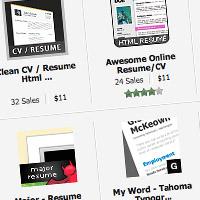 Preview for 5 Examples of Beautiful Resume/CV Web Templates