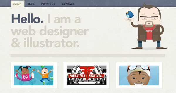 Character Design Portfolio Websites : Inspiration wonderful website headers