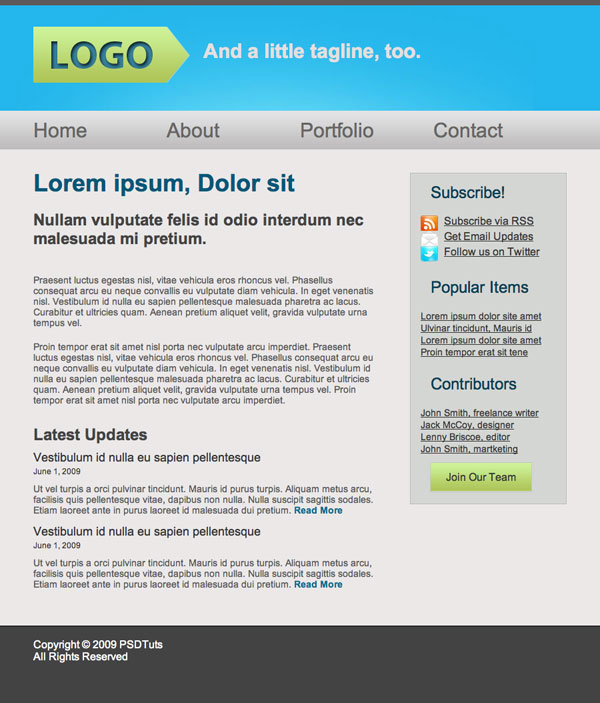 Web Design easy writing english