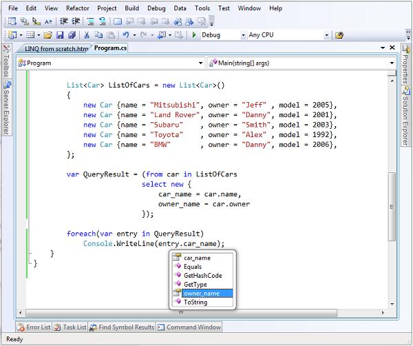 NET LINQ From Scratch