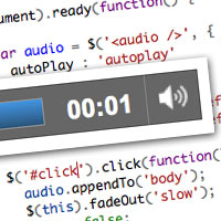 Preview for Quick Tip: The HTML 5 Audio Element
