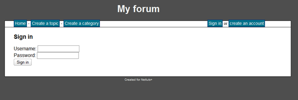 how to create a forum website from scratch