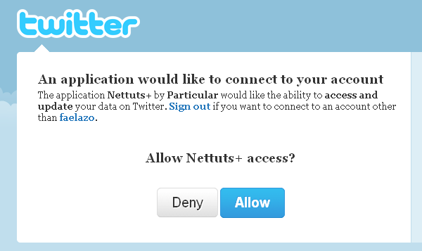 How to Authenticate Users With Twitter OAuth
