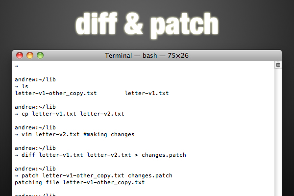 diff and patch