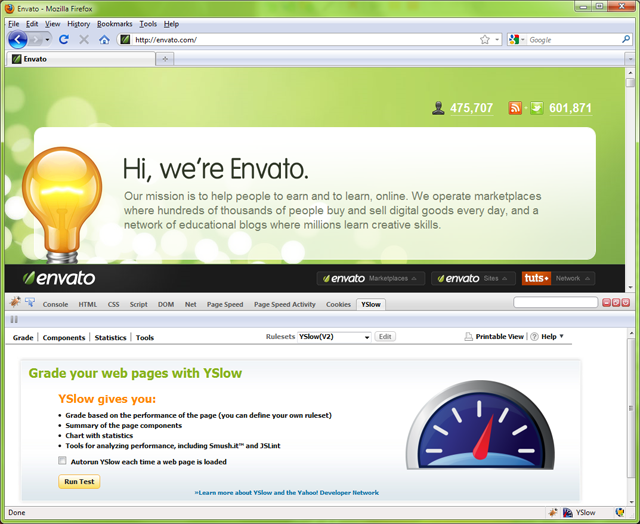 Yahoo's YSlow for Firefox