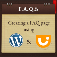 Creating faq with wp jquery