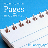 Working with pages in wordpress