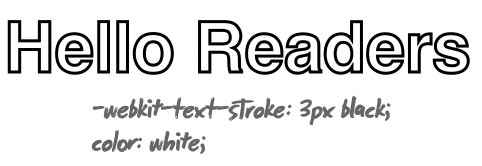 Text-Stroke