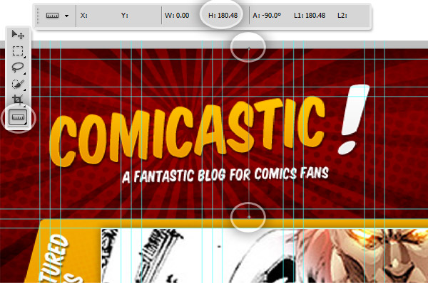 Create a comic book themed web design photoshop to html css part 2 step 2 basic css layout toneelgroepblik Images