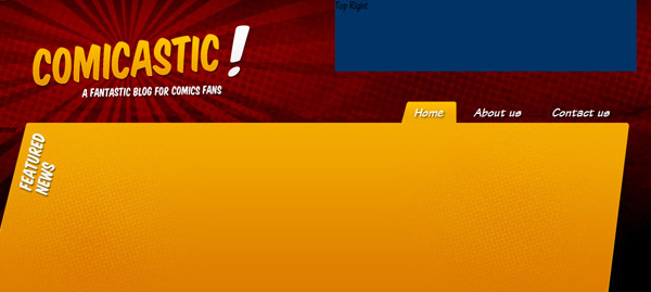 Create a Comic Book Themed Web Design, Photoshop to HTML +