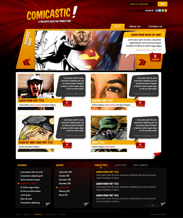 Create A Comic Book Themed Web Design Photoshop To Html Css Part 2