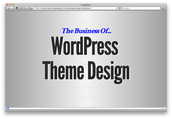 The Business of WordPress Theme Design
