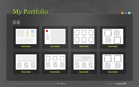 portfolio design layout ideas