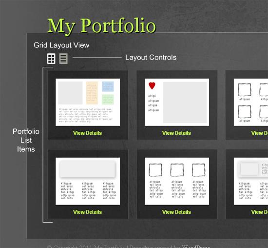 create a multi layout portfolio with wordpress