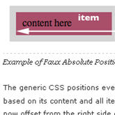 faux CSS absolute positioning