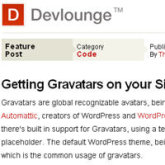 using gravatars in WordPress permalink posts
