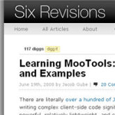 20 MooTools tutorials
