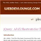 AJAX shortcuts for jQuery and MooTools