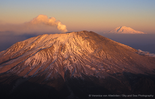 Mt. St. Helens And Mt. Rainier