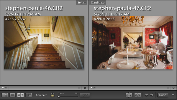 """The hardest part of this process is determining how far apart your images are. Putting two side by side with compare view (press """"Y"""" on the keyboard) and comparing the capture times (press """"I"""" on the keyboard) will help you compare capture times."""
