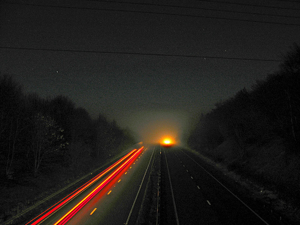 Image Credit Traffic Trails on the A34 by Simon Bray