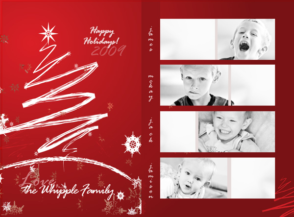 How To Design A PhotoCollage Holiday Card In Photoshop