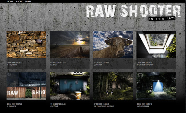 Photoblog project of Raw Shooter