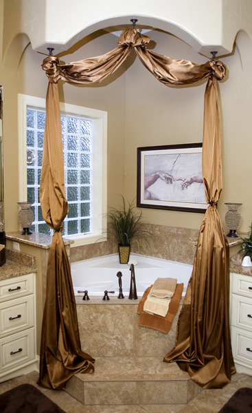 A lavish bathroom