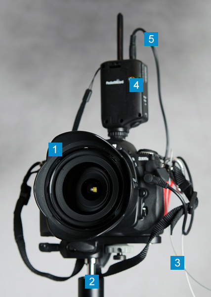 A remote camera fully setup.