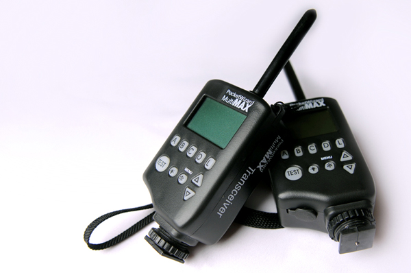 A Pocket Wizard, which is used to trigger the remote camera.