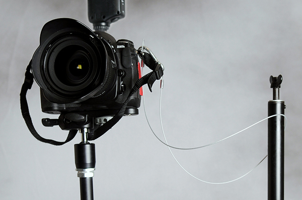 A fully setup remote camera with safety cables attached.