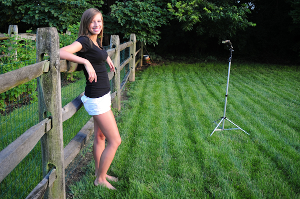 how to take outdoor portraits without flash