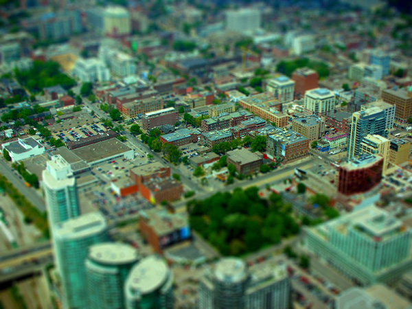 photoshop tilt-shift effect