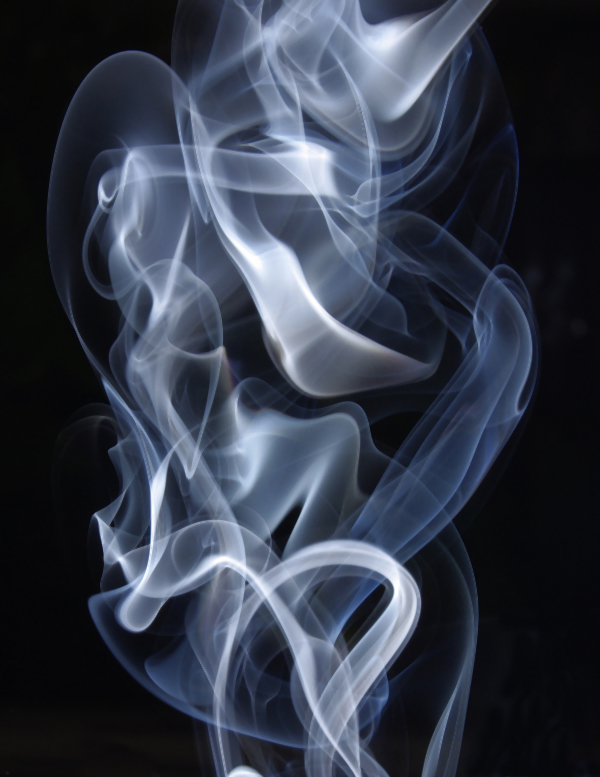 image of natural smoke on a white background