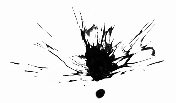 Black Paint Splatter Painting