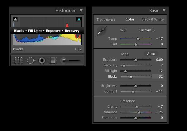 adobe lightroom histogram