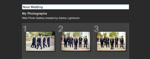 lightroom slideshow gallery
