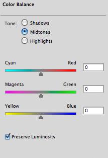 Photoshop's Color Balance