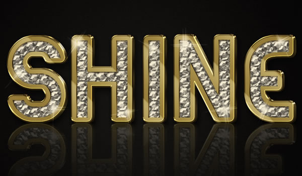 Link toCreate a sparkling diamond and gold text effect using filter forge and photoshop