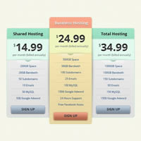Preview for Design a Clean and Modern Pricing Table in Photoshop