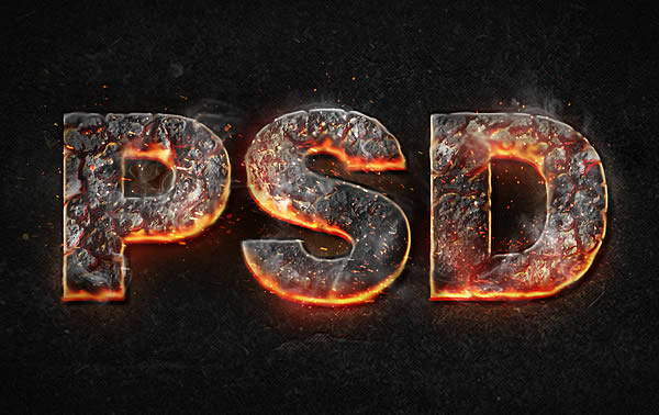 Link toCreate a magma hot text effect in photoshop