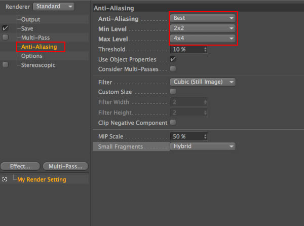 Anti-Aliasing Settings